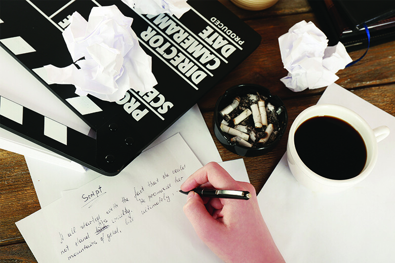 Words with pictures, scriptwriter's workspace