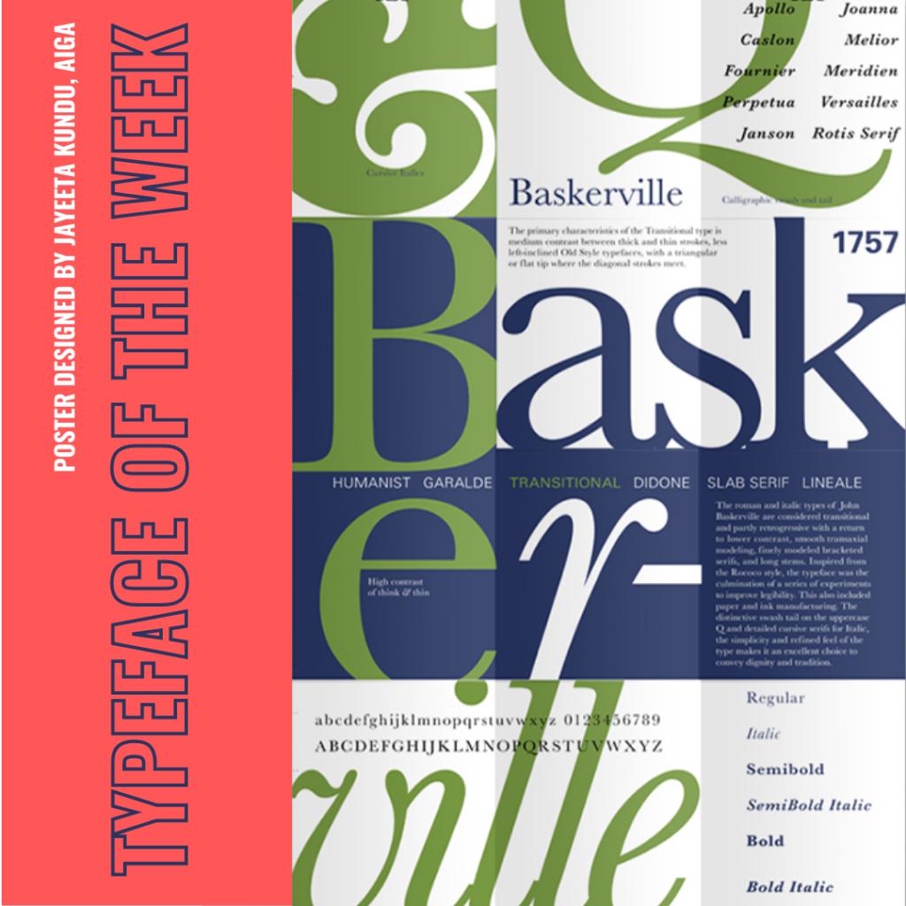 Baskerville typeface poster