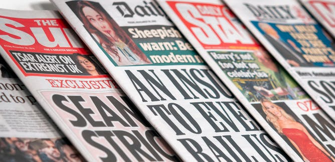 Red-tops, the tabloid papers, front pages