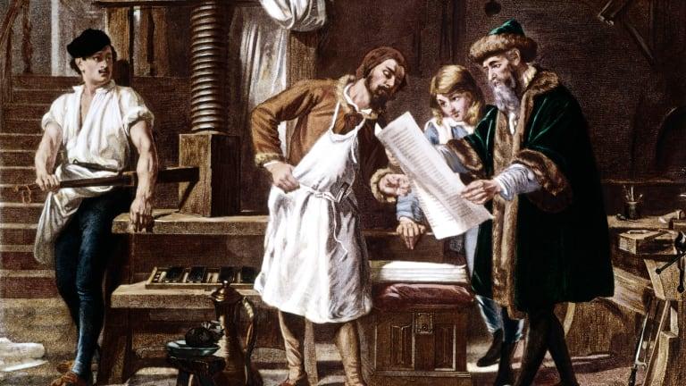 Gutenberg style printing press